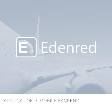 app et backend mobile Edenred gris